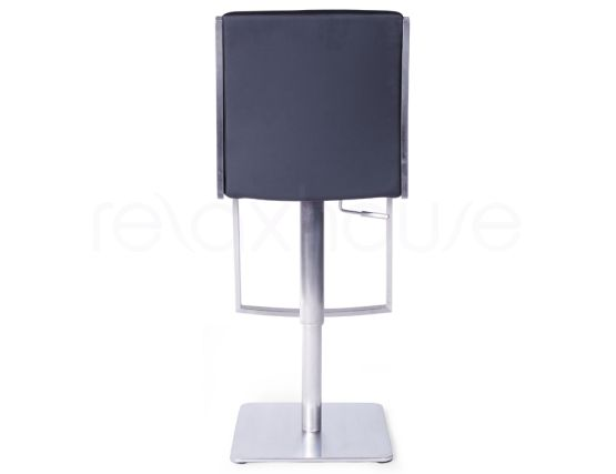Brando Bar Stool Black Brushed Steel Bar Stool5