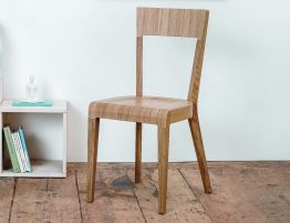 Solid Oak Modern Chair