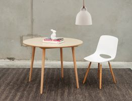 Round Ironica Table Natural