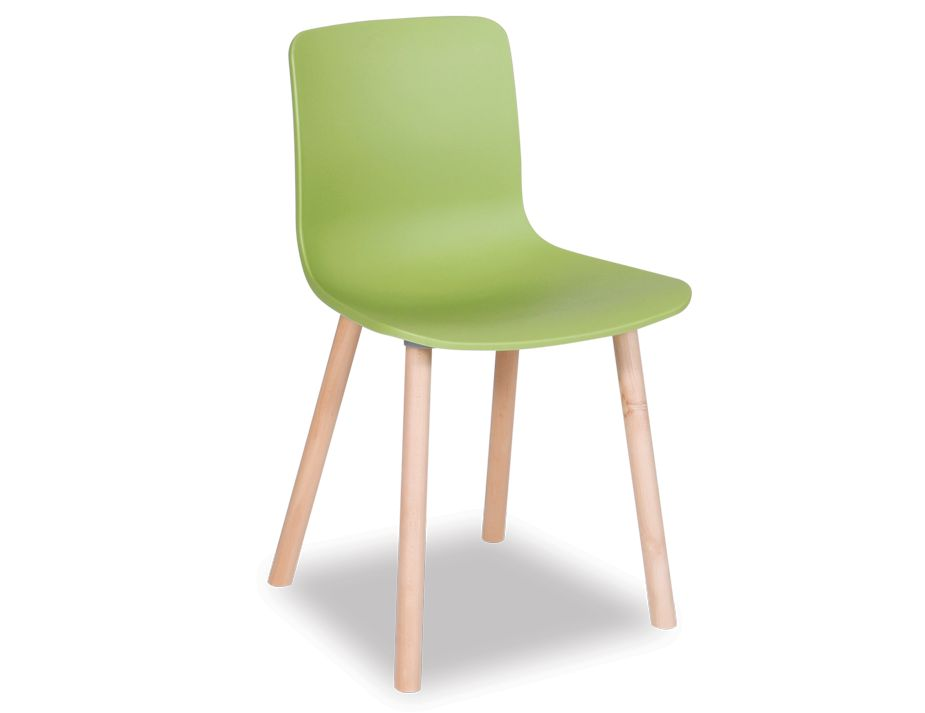 Jasper Morrison Hal Wood Dining Chair Green Reproduction