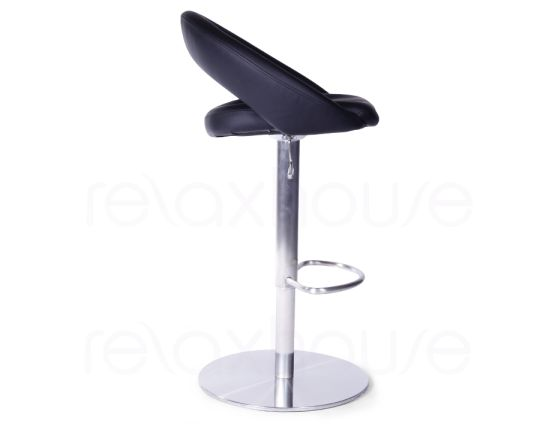 Leisure Brushed Steel Bar Stool Black3