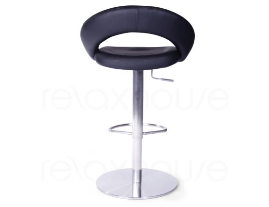 Leisure Brushed Steel Bar Stool Black4