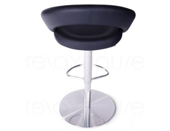 Leisure Brushed Steel Bar Stool Black5