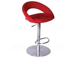 Leisure Steel Bar Stool Red1