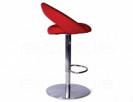Leisure Steel Bar Stool Red2