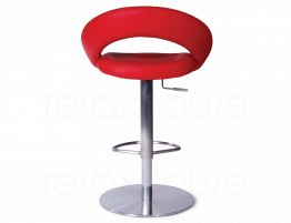 Leisure Steel Bar Stool Red4