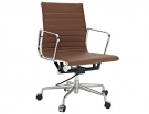 Chocolate Leather Replica Eames Management Office Chair