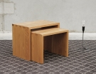 Boston Solid Oak Nest of Tables