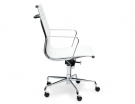 White Leather Replica Eames Low Back Office Chair