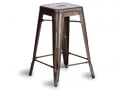 Tolix Stool Replica 65cm Galvanised Deep Gold Premium Xavier Pauchard