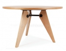 Jean Prouve Round Gueridon Dining Table - Natural Ash