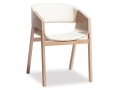 Merano Natural Oak Timber Dining Chair w/ DuraMod Bisquit Pad- TON CZ Original
