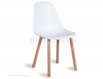 Matt White Canndale Moulded Chair w Solid Beechwood Legs