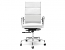 White Leather Eames Soft Pad High Back Replica